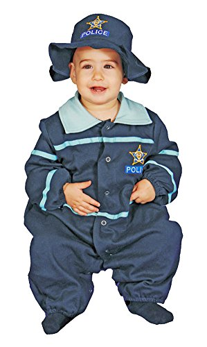 Halloween Costumes Item - Police Officer Baby Bunting Costume