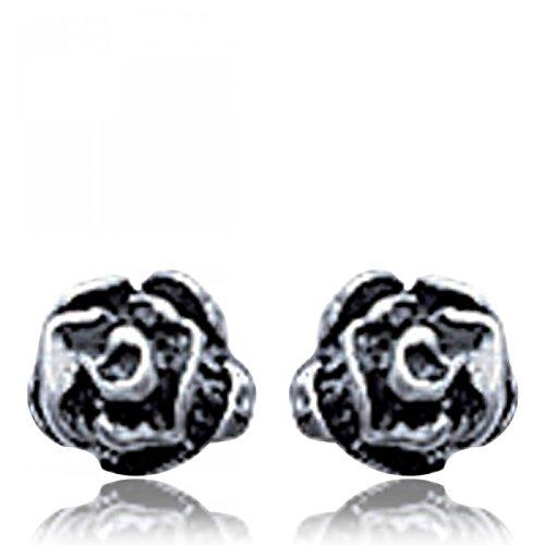 Boucles d'oreilles Argent Noir