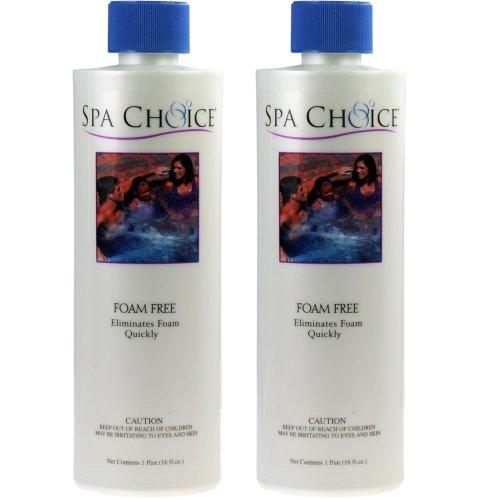 2-Pack Spa Foam Free hot tub defoamer, foam down & away, spas, ponds, fountains - 2 x 16 oz. bottles (32 oz. total) by SpaChoice