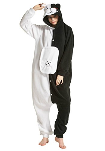 Tri-Better Monokuma Onesie Anime Pajamas Hooded Kigurumi Unisex Cosplay Costumes