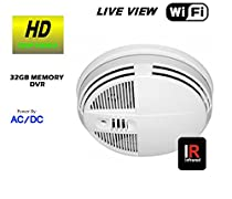 WIFI LIVE REMOTE VIEWING SMOKE DETECTOR BUILT-IN SELF RECORDING HIDDEN CAMERA DVR, TRUE DAY AND NIGHT VISION , HIGH DEFINITION
