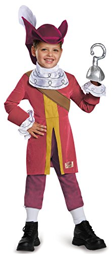 Captain Hook Deluxe Costume, Medium (3T-4T) - Childrens Captain Hook Costumes