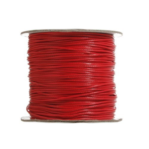 90 Meters 1.5mm 98 Yards Waxed Wax Cotton Cord String Linen Thread Wire Jewelry Bracelet Making Water & Wood