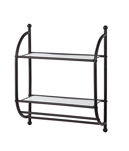Bronze Shelf Bathroom (HomeZone 2 Tier Wall Mount, Oil-Rubbed Bronze Finish)