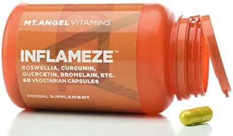 Mt. Angel Vitamins - InFlamEze, Boswellia, Curcumin, Quercetin, Bromelain (60 Vegetarian Capsules)