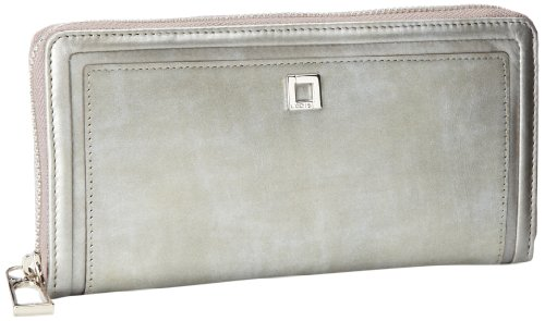 Lodis Clvercty Iris Zip Around Wallet,Pewter,One Size, Bags Central