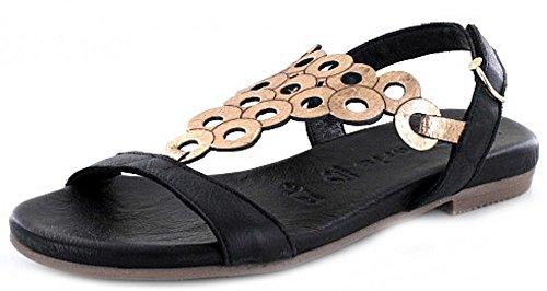 Tamaris 1-1-28102-28/059 - Sandalias de vestir de Piel para mujer negro BLACK/ROSE MET BLACK/ROSE MET