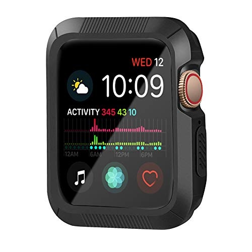 YUSHUANG Compatible with Apple Watch Case 44mm Series 4, Shock-Proof and Shatter-Resistant Compatible with Apple Watch Protector, Replacement for iWatch case - Black from YUSHUANG