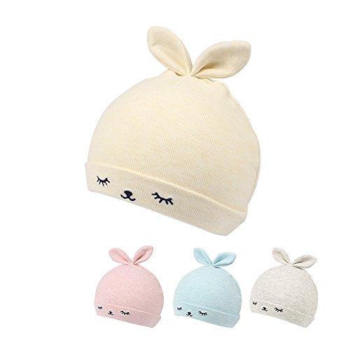 Kasular Newborn Hat Baby Boys Girls Beanies 0-3Months Squinting Rabbit Ears