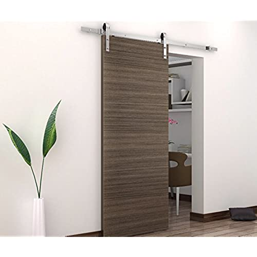 BD-FSS # Satin Nickel Brushed Stainless Steel Sus304 Modern Barn Wood  Sliding Door Hardware Track Kit for Storage Room, Laundry Room, Master  Bathroom, ...