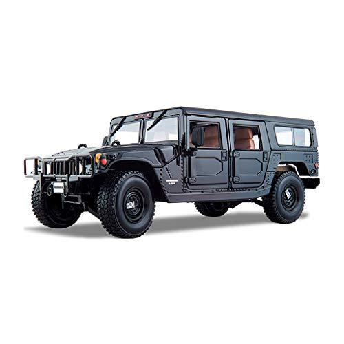 LIUFS-Die Casting Model Alloy Car Model Hummer H1 Simulation Alloy Car Model Off-Road Vehicle Original 1:18 (Color : Black) (Car Hummer Model)