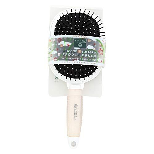 Earth Therapeutics Silicon Paddle Hair Brush, White