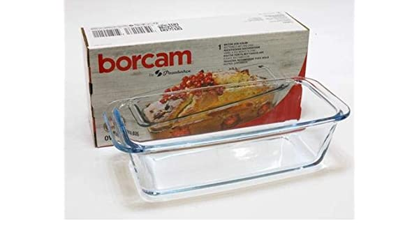 Borcam, 59884, Cazuela para Usar en el Horno para Diferentes Platos, Especialmente para Pasteles y Pan, Volumen: 1,12 l: Amazon.es: Hogar