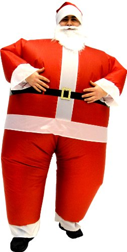 [Santa Claus Inflatable Chub Suit Costume With Beard and Hat] (Inflatable Chub Suit Costume)