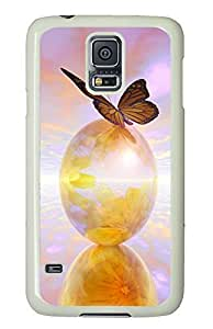 Samsung S5 most protective covers Monarch Butterfly PC White Custom Samsung Galaxy S5 Case Cover