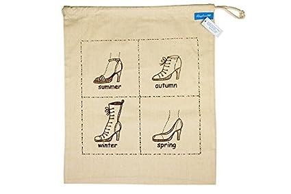 Bolsa de Tela para Zapatos/Funda de Zapatos Vintage de Yute con Estampado de Ringelsuse
