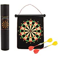 1 Set Outdoor Fun Flocking Indoor Sport Magnetic Dart Board Double-sided Flocking Darts Board Plate Kids Safety Sports…