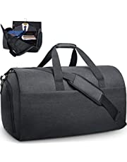Garment Bags Convertible Suit Travel Bag with Shoes Compartment Waterproof Large Carry on Duffel Bags Garment Weekender Bag for Men Women