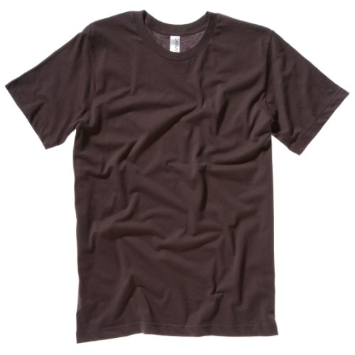 Unisex Jersey Crew Neck T-Shirt COLOUR Brown SIZE XS