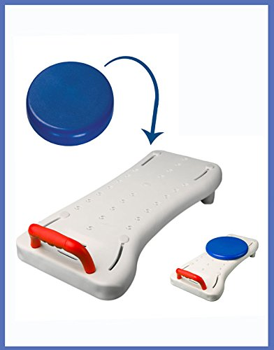 MOBB Deluxe Bath Transfer Board includes Optional Swivel Seat - Bath Transfer Bench Board Deluxe Transfer Bench