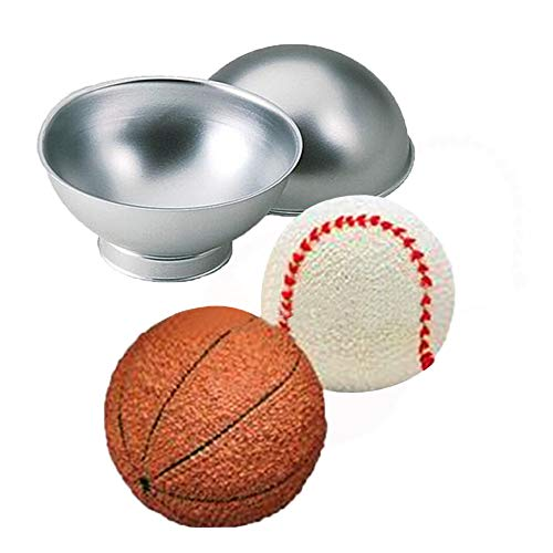 Gessppo 3D Aluminum Fondant Ball Cake Mould Biscuits Chocolate Pastry Candle Mold Cake Tin Pan Mold Set Decoration Bakeware Kitchen Gadgets Accessories