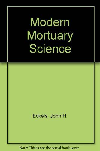 Modern Mortuary Science