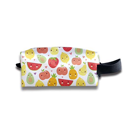 Small Toiletry Bag Fruit Party,Pencil Case,Travel Essentials Bag,Dopp Kit Bag For Men And Women With Handle]()