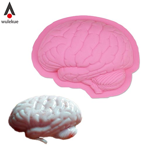 1 piece Wulekue Scary Zombie Brain Jello Gelatin Mold For Halloween Zombie Costume Party Tools gag Decoration Food Cake Horror Prop ()