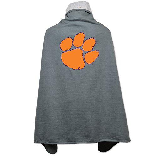 Tigers Ncaa Drapes - NCAA Clemson Tigers Children Unisex Cape Drape, One Size, Pewter