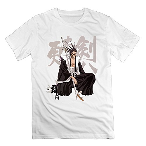Mens Kenpachi Zaraki Antihero Manga Japan Tee Shirt College