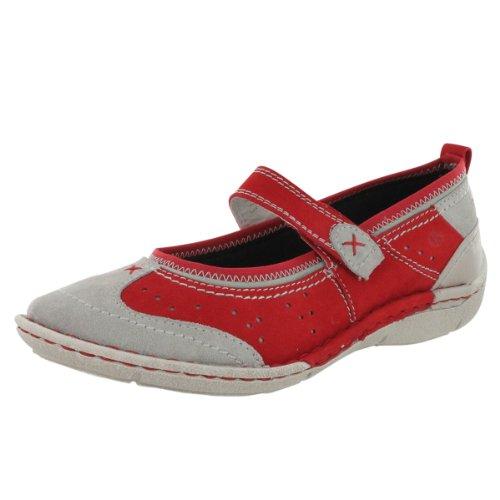 Josef Seibel Women's Emma 09 Mary Jane Fashion Sneaker Grey Red 39 M EU