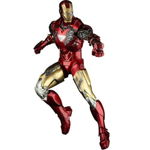 - Hot Toys Iron Man Mark VI - Marvel 12 Inch Doll Figure Iron Man 2