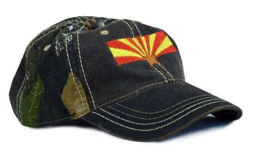 Arizona State Flag Camouflage Hat / Camo Hunting Cap