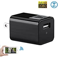 Wifi Hidden Camera Charger, HD USB Wall Charger Nanny Cam P2P Wireless AC Adapter Security Camera ,Support iPhone / Android Smartphones APP Remote View
