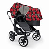 Bugaboo Donkey Mono Stroller WITH Andy Warhol Fabric- Bugs (Black Base)
