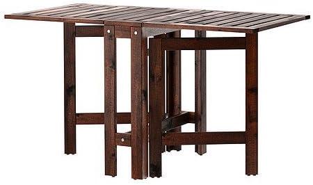 Ikea &apos wetterfester de madera plegable äpplarö Jardín Mesa de madera maciza acacia madera – 20/77/133 x 62 cm: Amazon.es: Juguetes y juegos