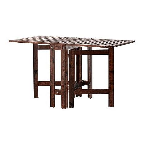 Tavoli Da Giardino In Legno Ikea.Ikea Tavolo Pieghevole Aepplaroe Tavolo Da Giardino In