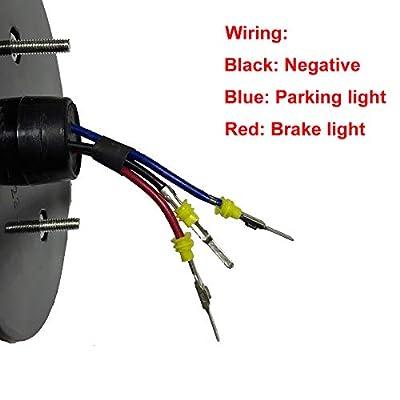 Pair LED Tail Light Rear Lamp Replacement For Kawasaki Teryx Teryx4 2012-2016 (red): Automotive