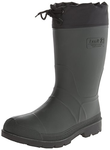 Kamik Men's Hunter Insulated Winter Boot, Khaki/Black Sole,