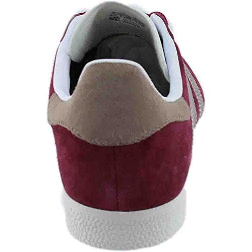 Adidas Donne Gazzella In Borgogna Collegiata / Vapori Grigio / Bianco In Esecuzione Da
