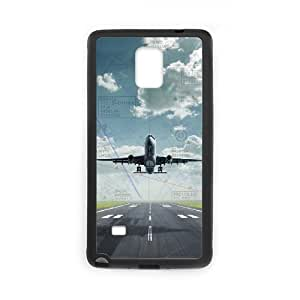 SPRAWL Original New Hard Skin Case Cover Shell for mobilephone Apple Iphone 5 5S, Interesting Fashion Design with Plane Takeoff TPU Phone case cover for SamSung Galaxy Note4 black