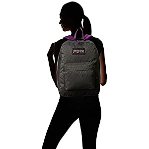 "JanSport Super FX Backpack - Vivid Purple Sparkle Dot / 16.7""H x 13""W x 8.5""D"