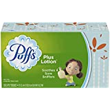Puffs Plus Lotion Facial Tissues, 8 Family Boxes, 120 Tissues per Box