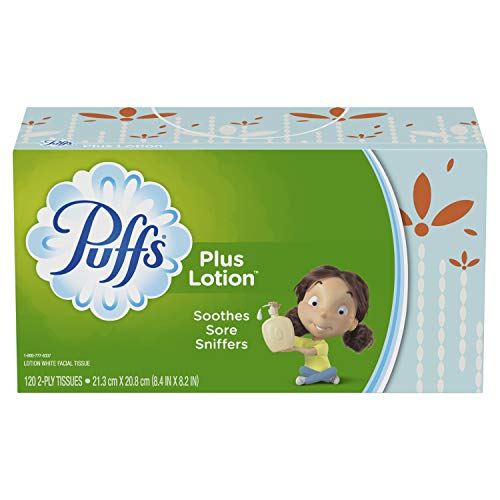 (Puffs Plus Lotion Facial Tissues, 8 Family Boxes, 120 Tissues per)
