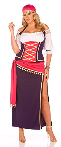 Gypsy Maiden Plus Costumes - Gypsy Maiden Adult Costume - Plus Size 1X/2X