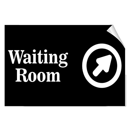 - Label Decal Sticker Waiting Room with Upper Right Arrow Business Durability Self Adhesive Decal Uv Protected & Weatherproof