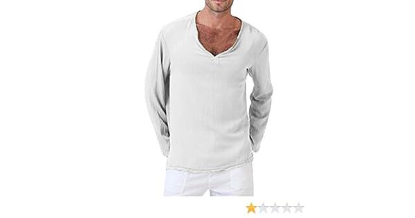 Camiseta de Verano para Hombre de algodón, Lino, Hippie tailandesa ...