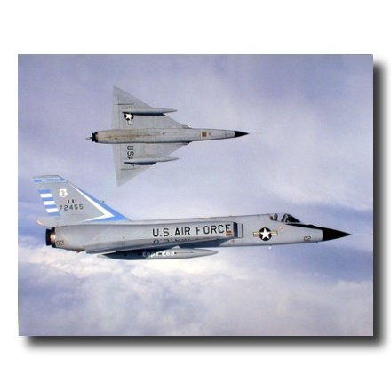 USAF F106 Fighter Jet Airplane Picture Art Print