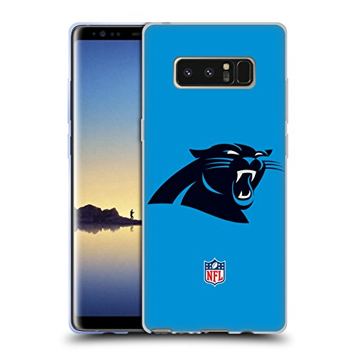 Official NFL Plain Carolina Panthers Logo Soft Gel Case for Samsung Galaxy Note8 / Note ()