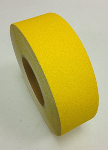 X 60' Foot Roll of Safety Yellow Adhesive Anti Slip Non Skid Abrasive Tape 3335-2 (60' Roll Anti Slip Tape)